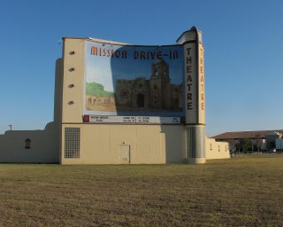 A drive-in theatre titled Mission
