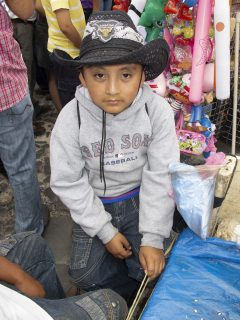 Portait of a young boy in a cowboy hat